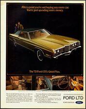 Vintage ad for '72  FORD LTD/Gold/ 2-door (021013)