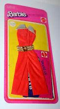 Vintage Mattel Barbie Doll Clothing Orange Jump Suit Outfit 1975 2553 MOC NOS