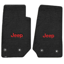 FOR Jeep WRANGLER UNLIMITED 2014-2016 Front Floor Mats BLACK RED JEEP LOGO 62006