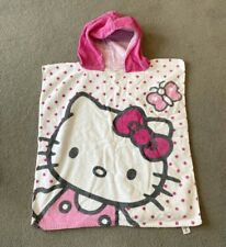 Hello Kitty Girls Hooded poncho Towel Swimming Holiday Beach Kids