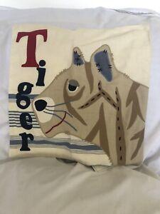 Pottery Barn Kids Tiger Pillow Cover Sham 16x16 Cotton NWT NLA