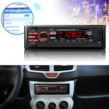 DC 12V Car 1 DIN Bluetooth Audio Receiver In-Dash FM Aux SD USB MP3 Stereo Radio