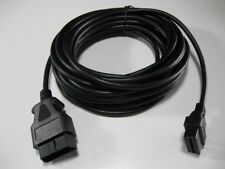 33 Foot feet/10M OBD2 OBDII 16 Pin Male & Female Extension Cable Diagnostic Cord