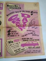Vintage 1963 Store Advertisement Miracle Mile Shopping Center Pennsylvania Paper