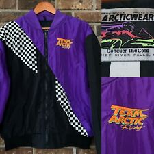 Vtg Arcticwear Team Arctic Racing Arctic Cat Jacket Snowmobile Purple Adult XL