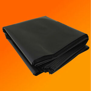2M X 5M 250G BLACK HEAVY DUTY POLYTHENE PLASTIC SHEETING GARDEN DIY MATERIAL