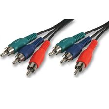0.5m RGB Component Video Cable Triple Phono Lead 3 x RCA AV YPbPr Red Green Blue