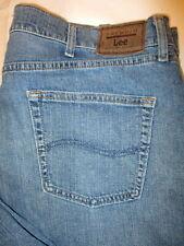 Lee Regular Fit Straight Stretch Mens Blue Jeans Sz 42 x 32 Style #2001945 Mint
