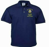 USS BARRY  DDG-52  NAVY ANCHOR  EMBROIDERED LIGHT WEIGHT POLO SHIRT