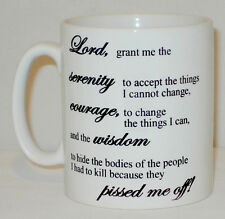 Serenity Prayer Mug Can Be Personalised Funny Rude Religion Courage Wisdom  Gift