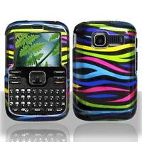 For Kyocera Loft / Torino S2300 Rubberized Hard Case Phone Cover Colorful Zebra