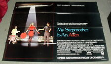"""1988 ADVANCE *MY STEP MOTHER IS AN ALIEN* HUGE MOVIE POSTER 44x60"""" AYKROYD WH-25"""