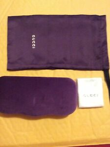 New Authentic GUCCI  Hard/Soft Glasses Case With Cleaning Cloth