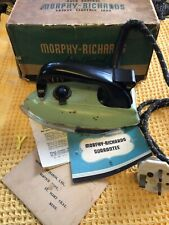 More details for antique morphy richards safety electric iron 1937 original box and instructions