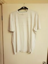 Mens white short sleeved t-shirt by easy Size L