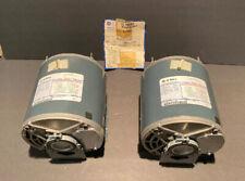 (2)GE K1408 56 FR 5K42HN4089X belt drive motor, 1/2 hp 1725rpm V208-230/460 3PH
