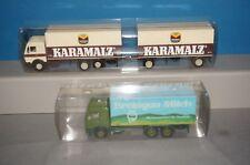 """RF30-7] Herpa Kara Malt MB Roadtrain 1/87+ Mercedes Truck """" Breisgau Milk """""""