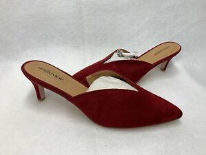 Comfortview Women's Angeline Mule Comfort Shoe Red Faux Suede Sz.12 W