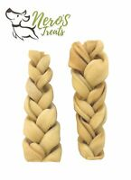 Dog Bones 5-6'' Braided Rawhide Sticks (TRIO Pack) EXTRA THICK. Healthy Treats