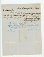 Handwritten Letter Rev Chauncey Booth Gleason Genealogy South Coventry CT 1848