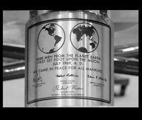 8x10 Apollo 11 Moon Plaque PHOTO Moon Landing Lunar Module, Neil Armstrong