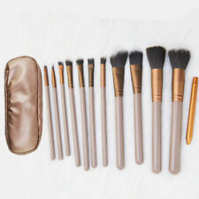 12pcs Pro Makeup Brushes Soft Cosmetic Eyeshadow Blush Brush Tool +Bag US Stock