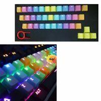 Backlit Gaming Keycap Set PBT Word Penetration Keycaps 37keys Cherry Rainbow