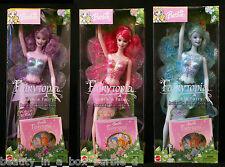 Sparkle Fairy Barbie Doll Pink Blue Lavender Lot 3