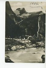 Briksdal Nordfjord RPPC Antique Foto Photo NORWAY Norge Horse & Cart Stamp 1932