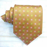 TOP wide brown geometric neck tie Morgana ITALY business / bridal RRP £ 38