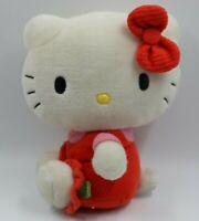 """Hello Kitty White Red Plush Stuffed Toy 10"""""""