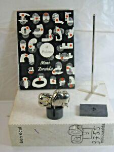 MIGUEL BERROCAL - Mini Zoraida Nickle Plated Puzzle Sculpture w/Box Book & Stand