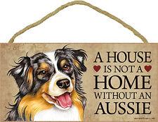 Australian Shepherd Wood Dog Sign Wall Plaque 5 x 10 - A House Is Not A Home ...