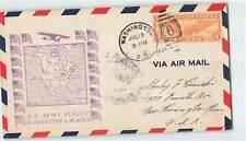 US 1934 ARMY FLIGHT WASHINGTON TO ALASKA W/ 6c ON AIRMAIL COVER