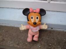 VINTAGE RUBBER BENDY MINNIE MOUSE FIGURE 1960'S ? ORIGINAL USED SEE PHOTOS