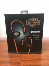 HARLEY-DAVIDSON BLUETOOTH WIRELESS EARBUDS WITH MICROPHONE BRAND NEW SEALED BOX.
