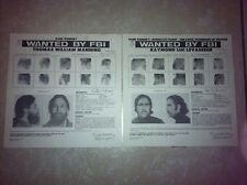 UNITED FREEDOM FRONT TOM MANNING & LUC LEVASSEUR FBI WANTED POSTERS *MAKE OFFER