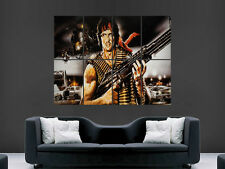 Rambo film mitrailleuse M60 action art énorme grand giant poster print
