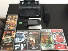 PSP BUNDLE! w/ LOGITECH CARRYING CASE, 3 GAMES, 3 MOVIES, MEMORY CARD