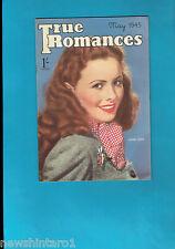 #T42.  TRUE  ROMANCES  MAGAZINE, MAY 1945, JEANNE CRANE  COVER