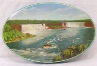 Vintage Niagara Falls Souvenir Candy Tin with Maid of the Mist Boat Scene 1960s