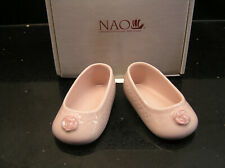 NAO BY LLADRO FOR MY BABY GIRL PAIR PINK SLIPPERS SHOES 1891 BOXED CHRISTENING