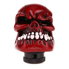 Skull Head Universal Car Truck Manual Stick Gear Shift Knob Lever Shifter Red