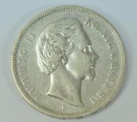 Coin Münze 5 Mark König Ludwig II. von Bayern J. 42 1874 D Silber silver
