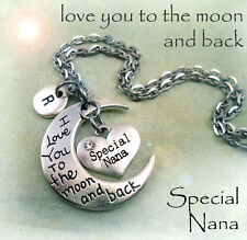 Special Nana I Love You to the Moon and Back Necklace - Nana Gift
