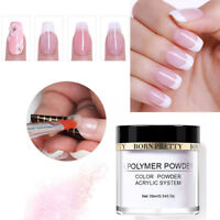 10ml Clear Pink White Acrylic Powder Nail Art Tips Builder Manicure BORN PRETTY