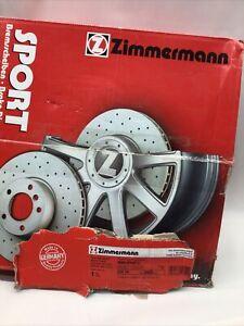 ZIMMERMAN BMW SportZ Front Disc Brake Rotors Drilled Coated OZ Nr. 150.3408.52