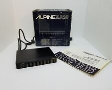 ALPINE 3316 7 BAND ELECTRONIC GRAPHIC EQUALIZER VINTAGE