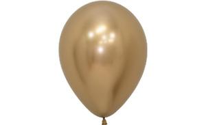 "Sempertex Reflex Gold 12"" Latex Balloons - Packs of 10, 25 or 50"