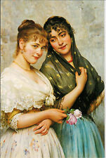 Two venetian women  modern Rare new postcard by Eugene de Blaas